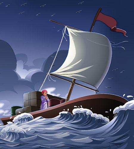 Perahu di Samudra